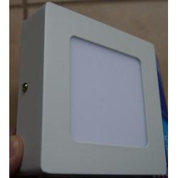 Plafon led panel led 6W kwadratowy nawierzchniowy ciepłe zimne światło Sideon
