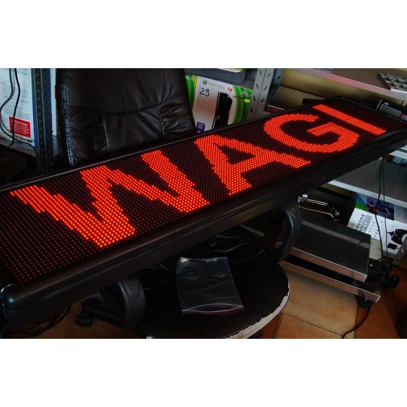 Baner reklama led panel led 169x39cm czerwone ledy